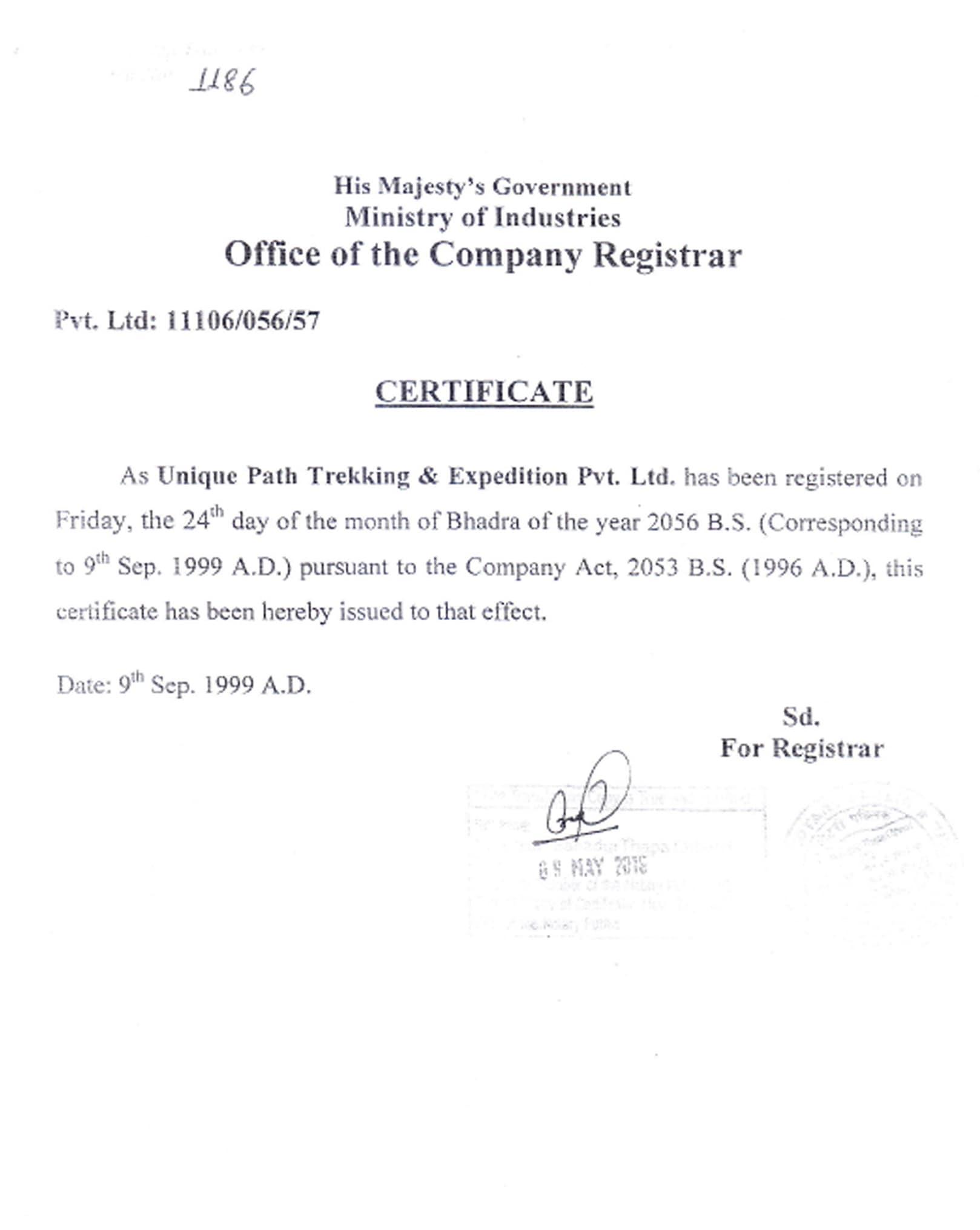 certificate-company-registrar