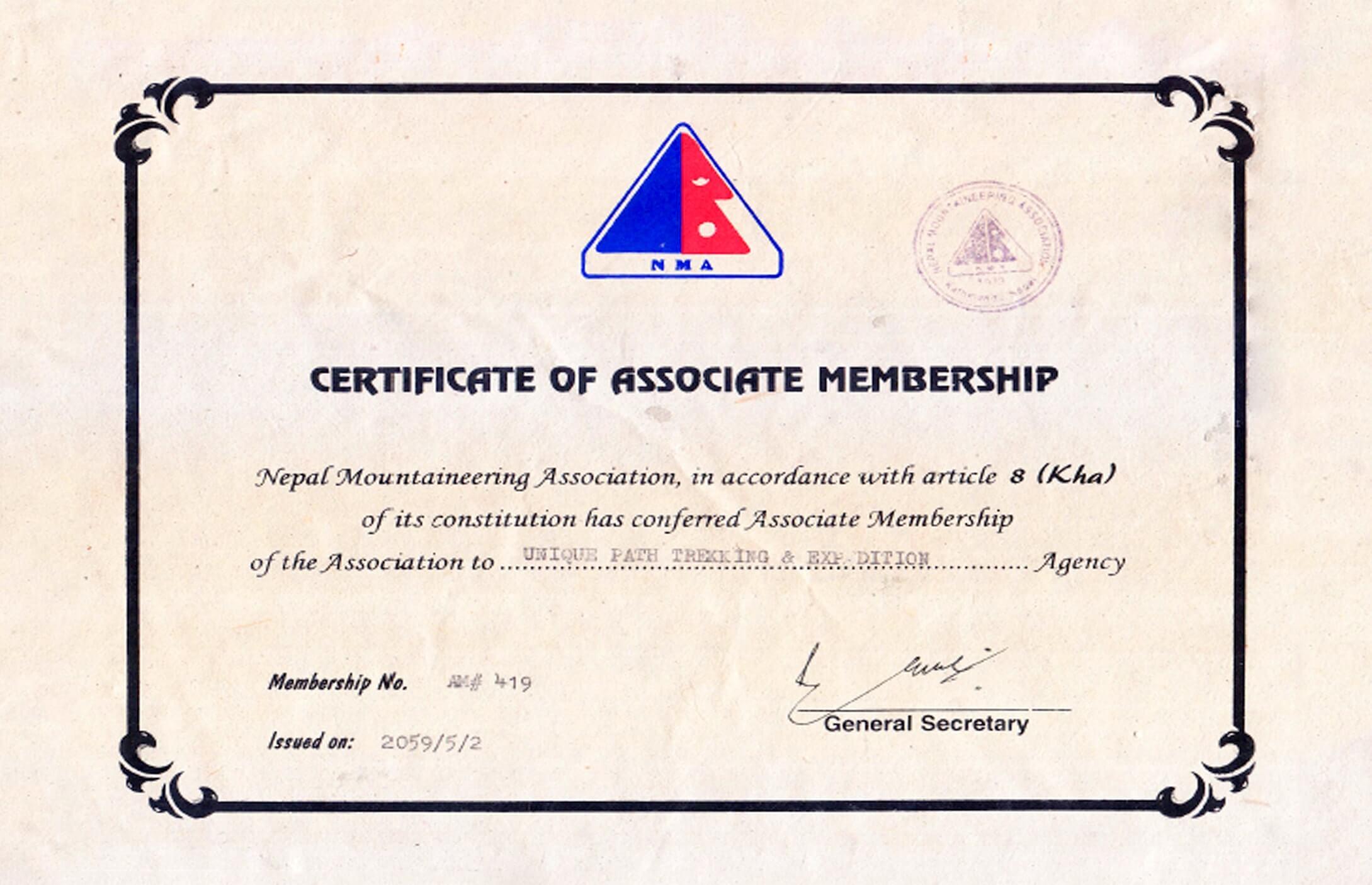 certificate-nma